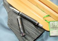 IRISH COLLECTION BOG OAK - Silver Plated Rollerball Pen