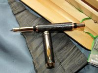 IRISH COLLECTION BOG OAK - Gold Plated Fountain Pen