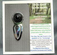 BOG OAK Bookmark, with Silver Chrome Clip