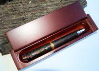 AMBASSADOR DESK PEN - Wooden Bog Oak Fountain Pen